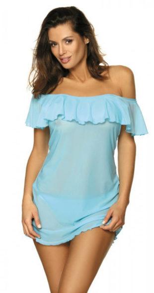 Áttetsző türkizkék tengerparti ruha