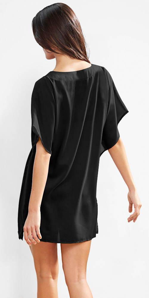 Fekete-fehér fekete tengerparti mini ruha