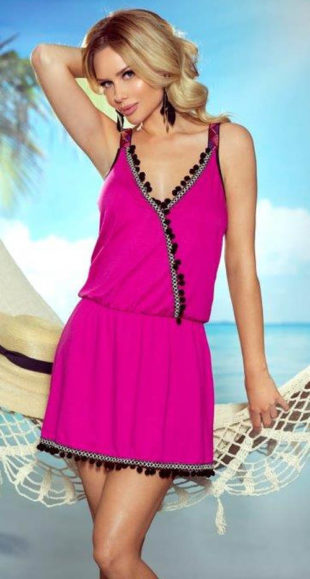 Nyári tengerparti ruha pakolással