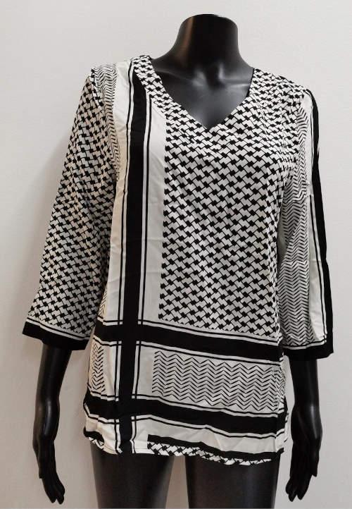 Fekete-fehér mintás Saint-Tropez zubbony