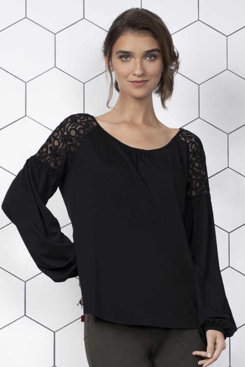 Elegáns női blúz Málta kényelmes kötött anyagból készült Málta