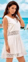 Fehér strandruha csipkebetétekkel
